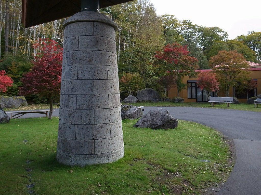 中禅寺金谷ホテル大谷石の柱