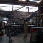 鉄骨階段工場検査